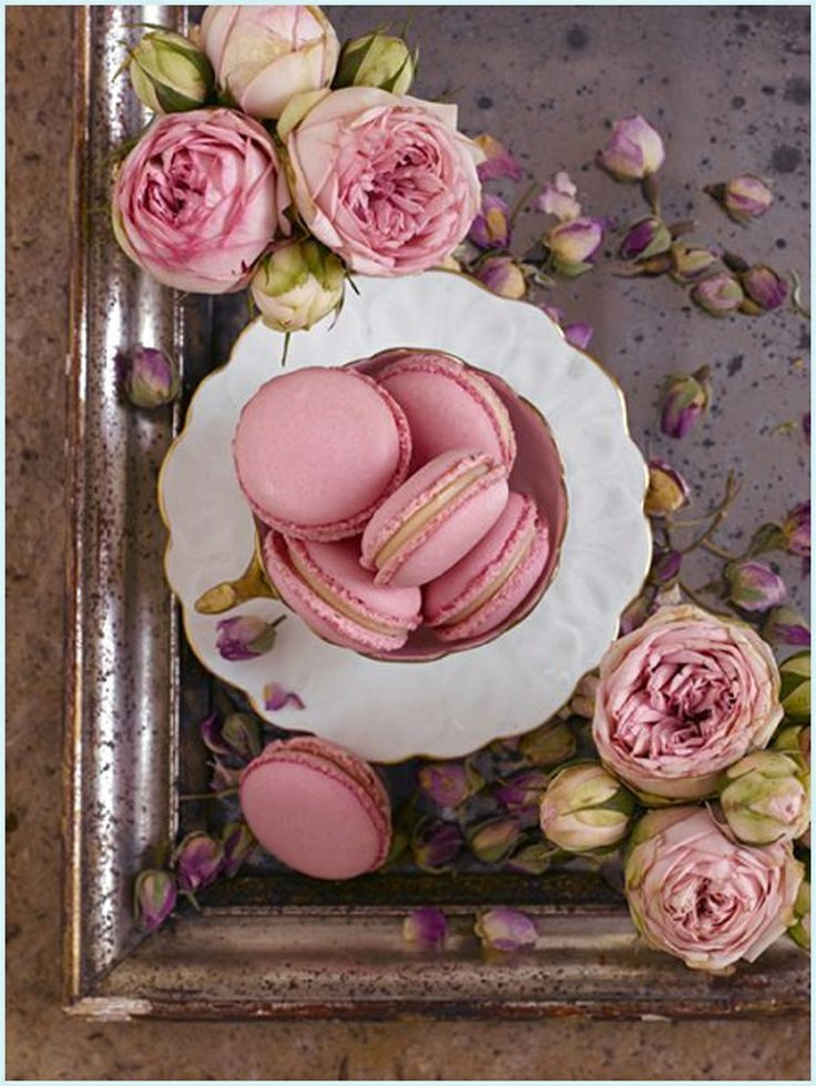 Macaroons Pink Roses Pictures Photos And Images For Facebook