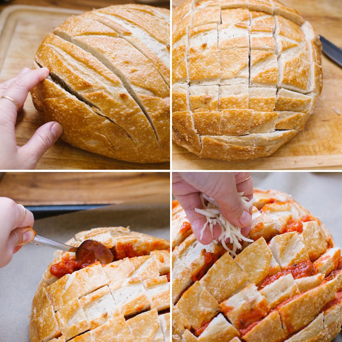 Easy cheesy pizza pull apart bread recipe pictures photos and easy cheesy pizza pull apart bread recipe forumfinder Choice Image