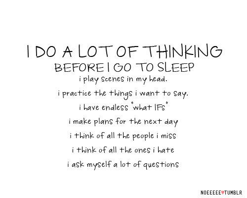 i go to sleep