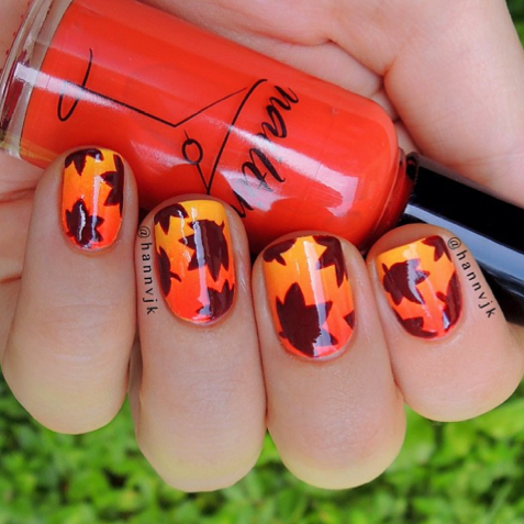 Fall Leaves Nail Art Pictures Photos And Images For Facebook Tumblr Pinte