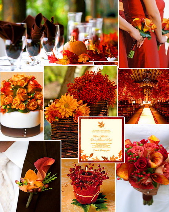 Autumn Wedding Ideas Collage