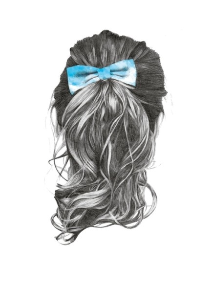 Sketch Of Long Hair With Bow Pictures Photos And Images