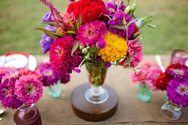 Colorful zinnia centerpieces pictures photos and images