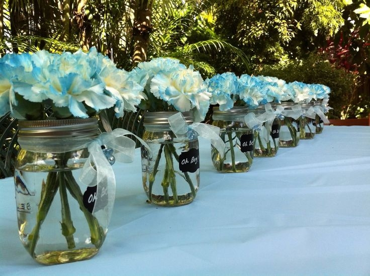 Baby Shower Flowers In Mason Jars Pictures Photos And