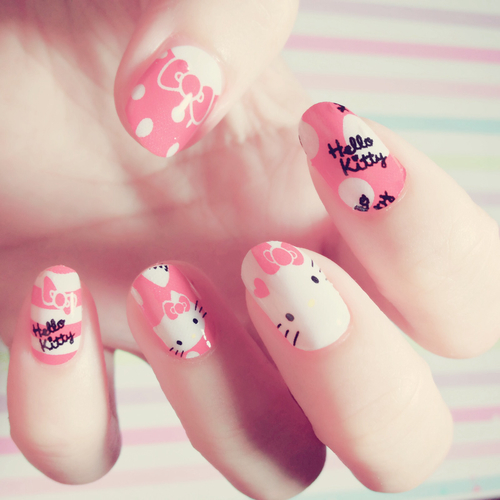Hello Kitty Nail Design Pictures Photos And Images For Facebook