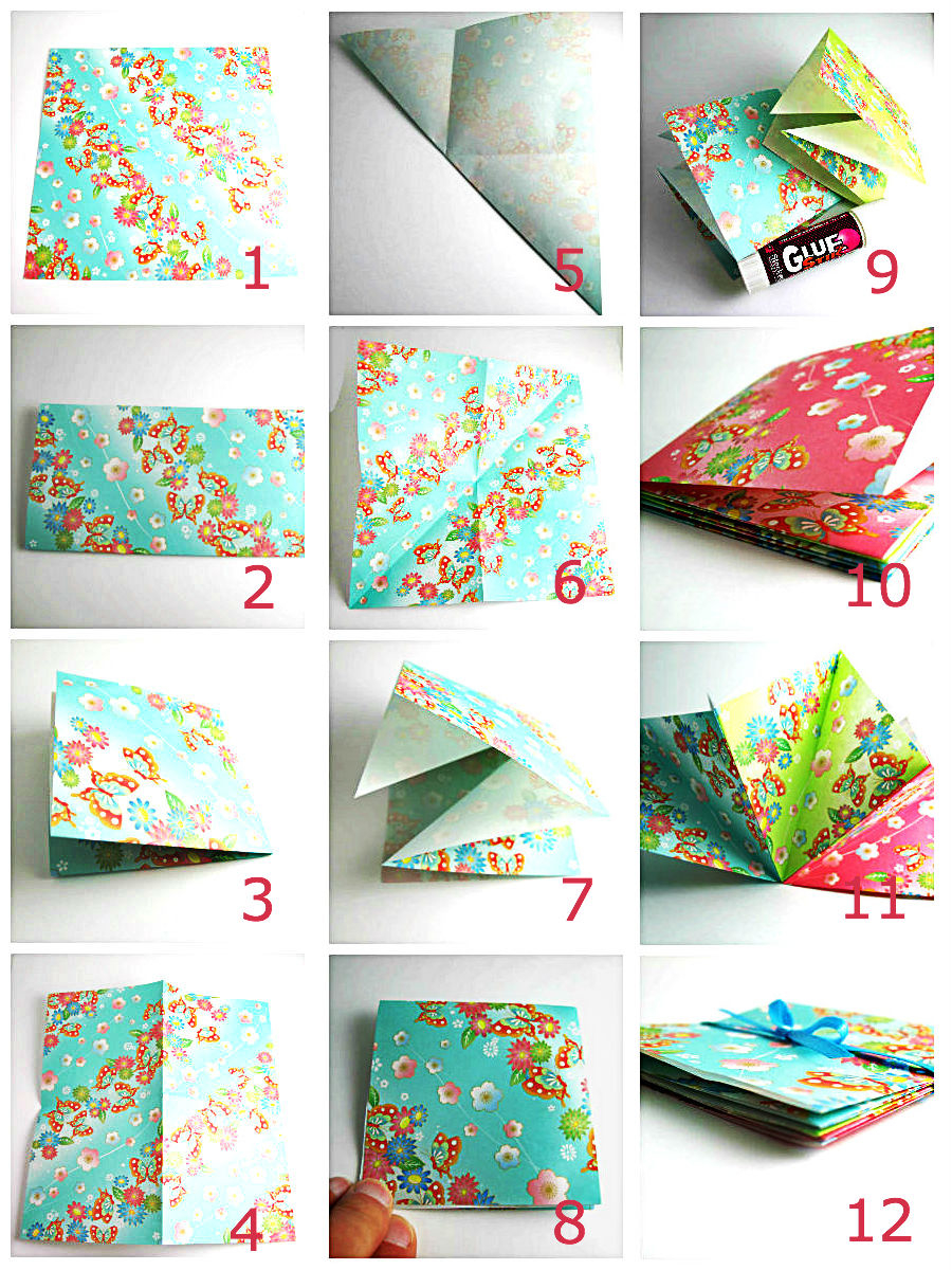 Diy origami folded book pictures photos and images for for Art and craft books for kids