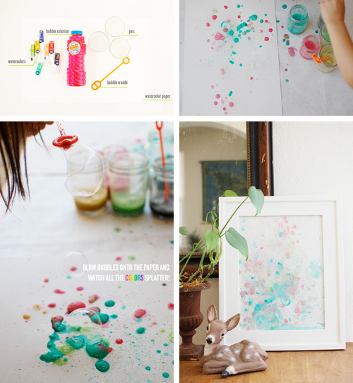 DIY Bubble Paint Wall Art s and for