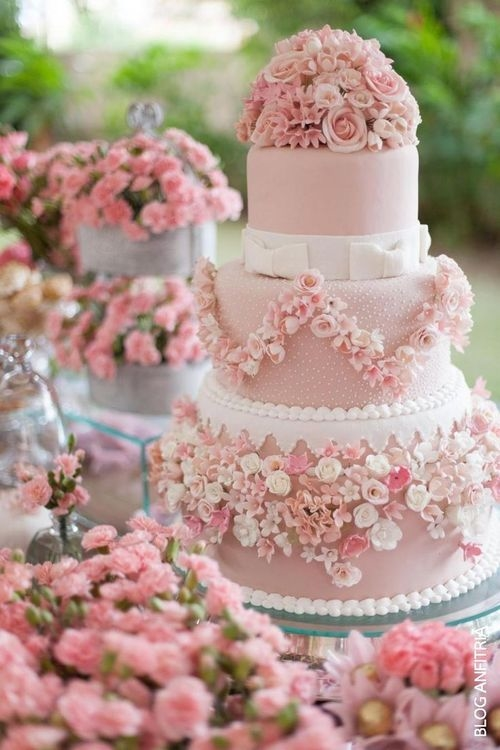 Gorgeous Pink & White Rose Wedding Cake Pictures, Photos, and Images ...