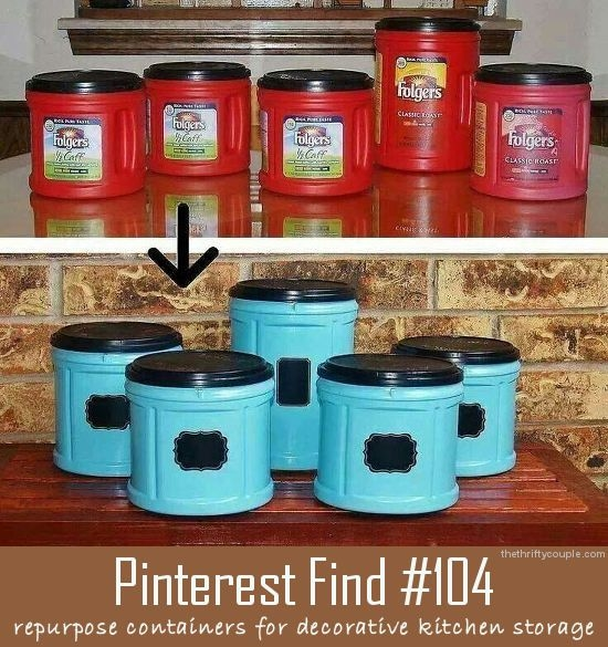 Repurpose old coffee cans pictures photos and images for - What are coffee cans made of ...
