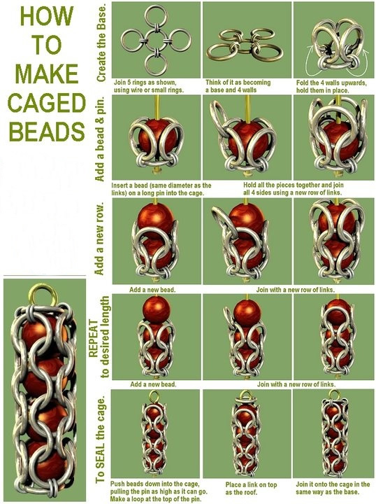 how to make caged beads pictures photos and images for