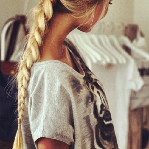 Blonde Braided Ponytail Pictures Photos And Images For Facebook Tumblr Pinterest And Twitter