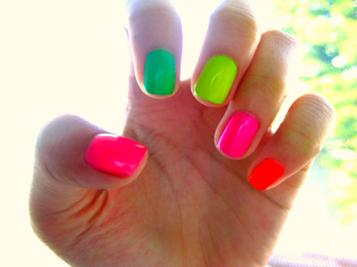 Neon Nails Pictures, Photos, and Images for Facebook, Tumblr ...