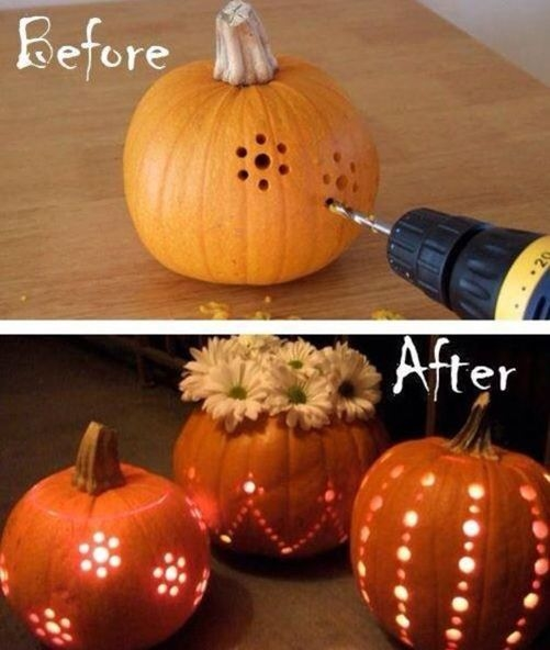 diy drilled pumpkins pictures photos and images for
