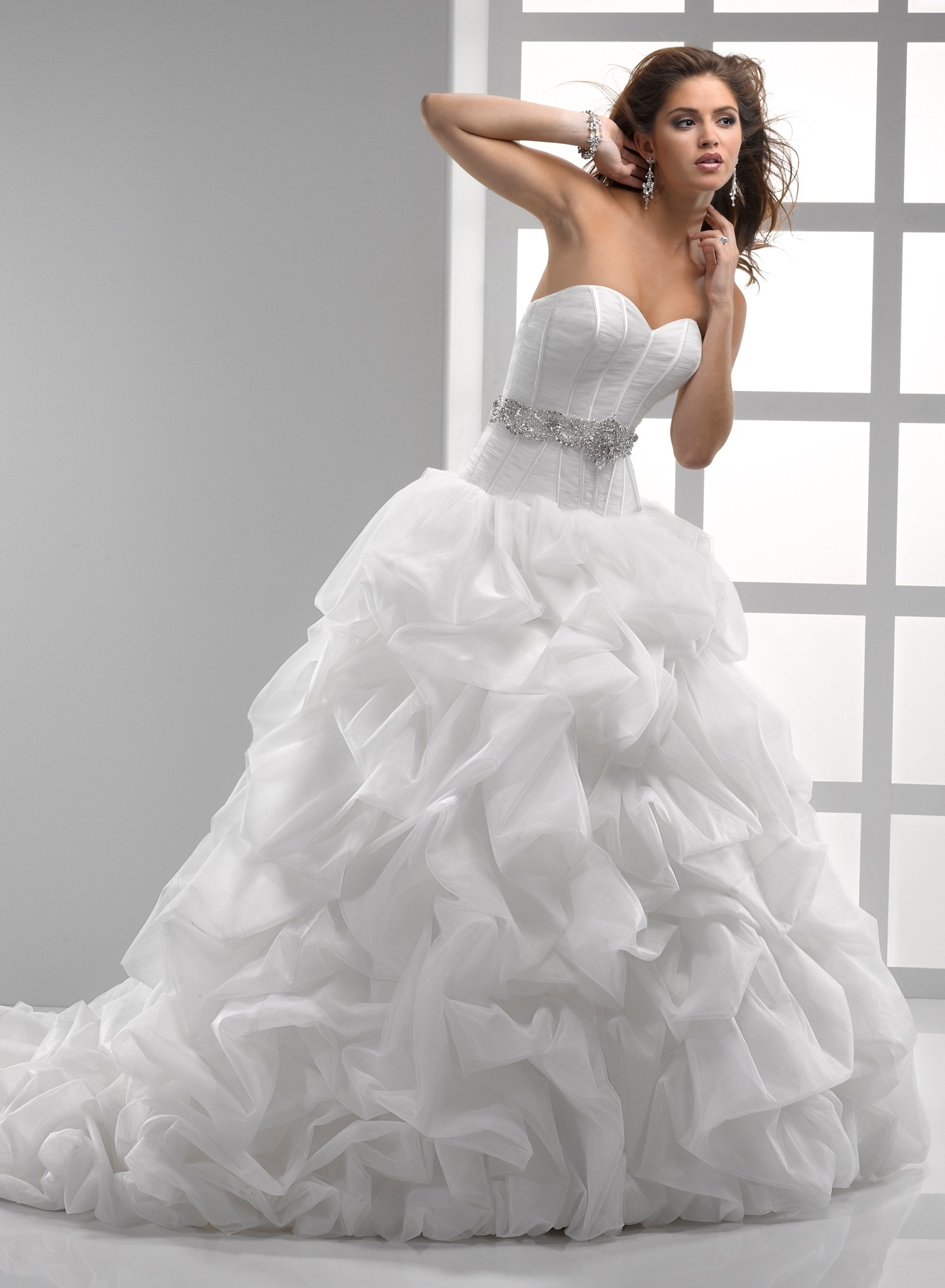 Light Tulle & Chic Organza Sweetheart Bridal Gown Pictures, Photos ...