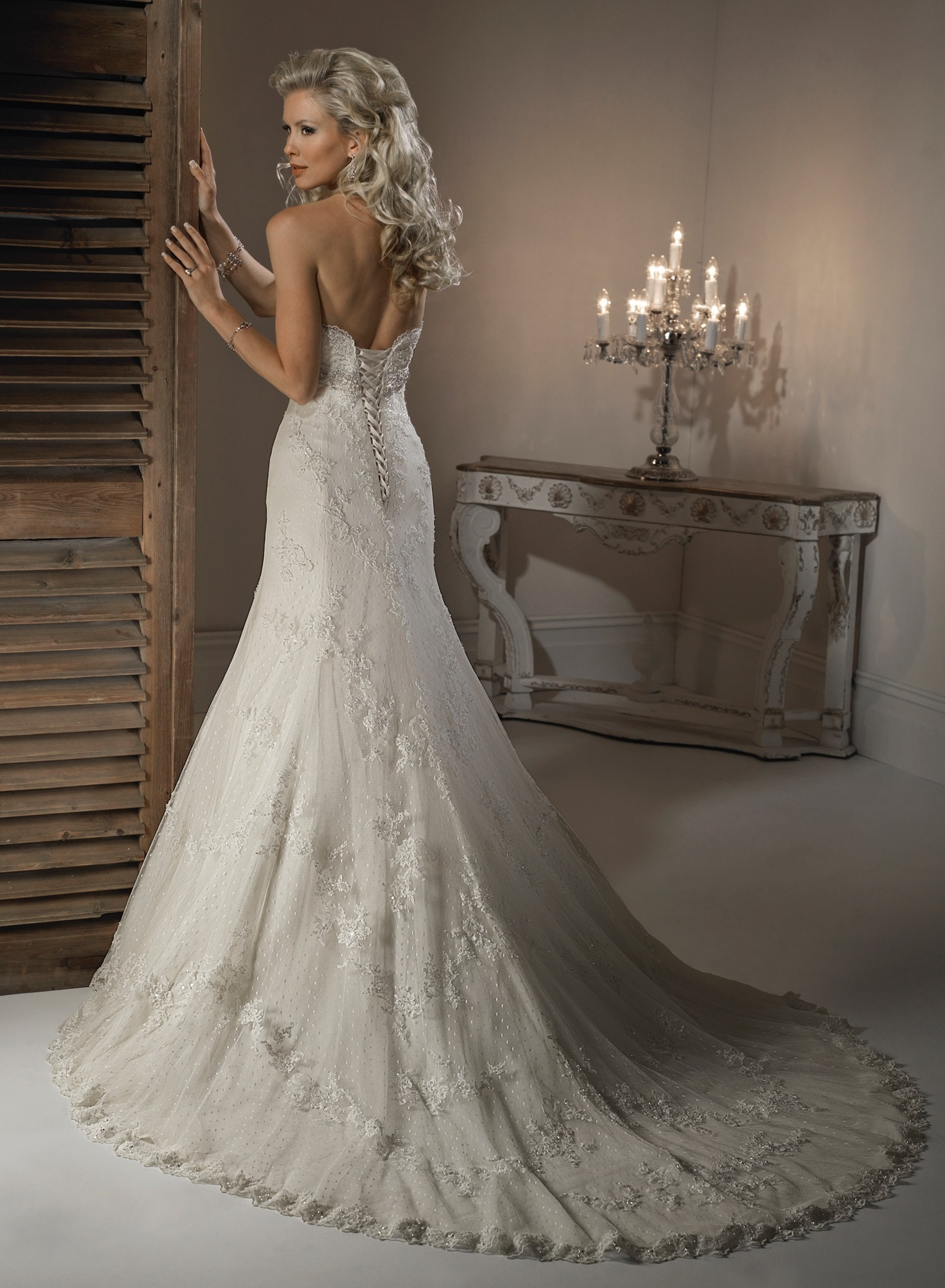 Strapless A Line Beaded Bridal Gown s and