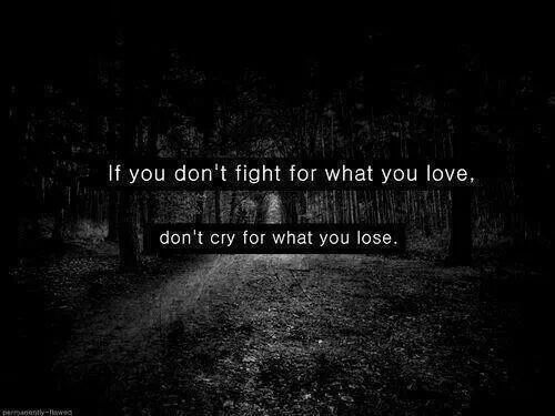 If You Dont Fight For What You Love