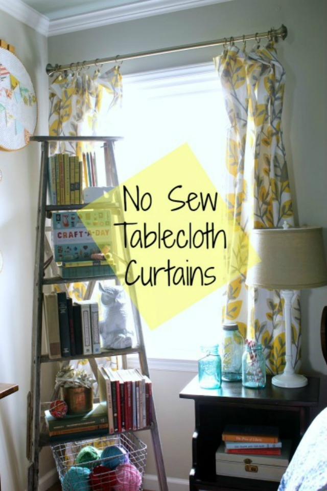 No Sew Tablecloth Curtains Pictures Photos And Images