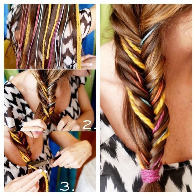 DIY Fishtail Yarn Braid Pictures Photos And Images For Facebook - Braid diy pinterest