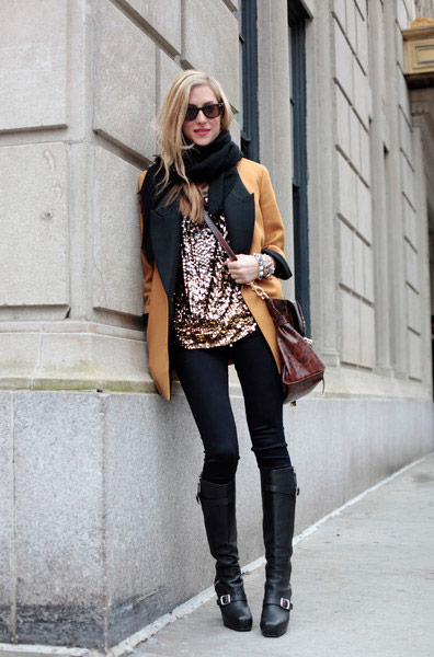 Pumpkin Blazer With Sparkling Top Leggings Amp Boots