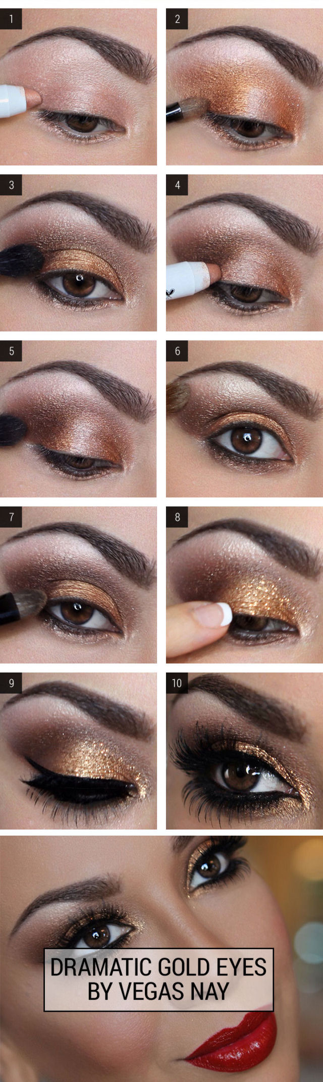 Dramatic eye makeup tutorial choice image any tutorial examples dramatic gold eye makeup pictures photos and images for facebook dramatic gold eye makeup baditri choice baditri Images