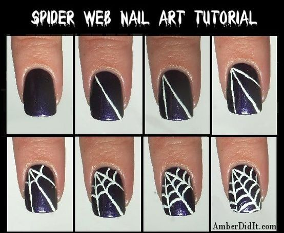 Spider Web Nail Art Tutorial Pictures Photos And Images For