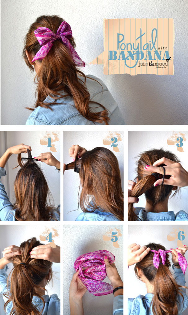 Brilliant Diy Ponytail With Bandana Pictures Photos And Images For Short Hairstyles Gunalazisus
