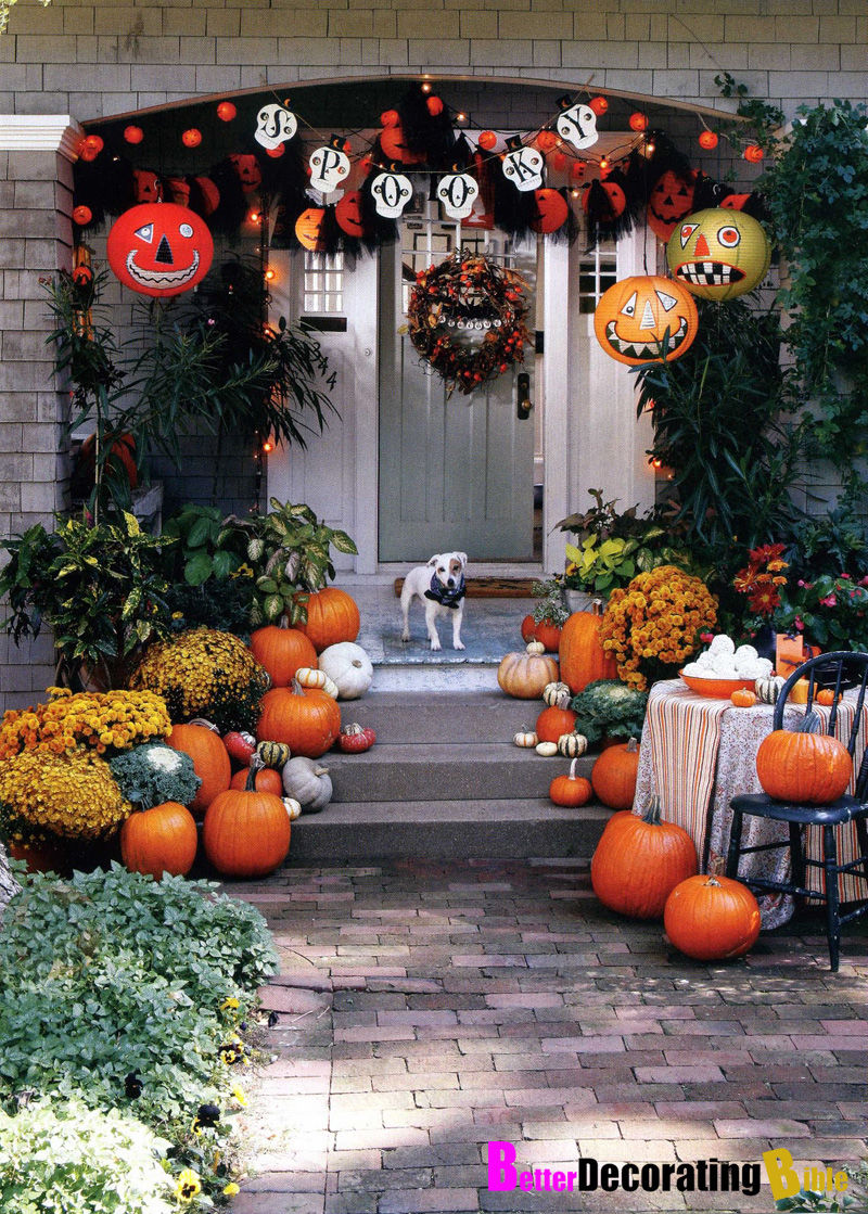 spooky halloween and fall porch decor pictures, photos, and images