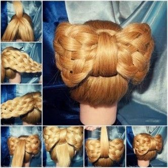 Pleasing Diy Braided Big Bow Hairstyle Pictures Photos And Images For Short Hairstyles Gunalazisus