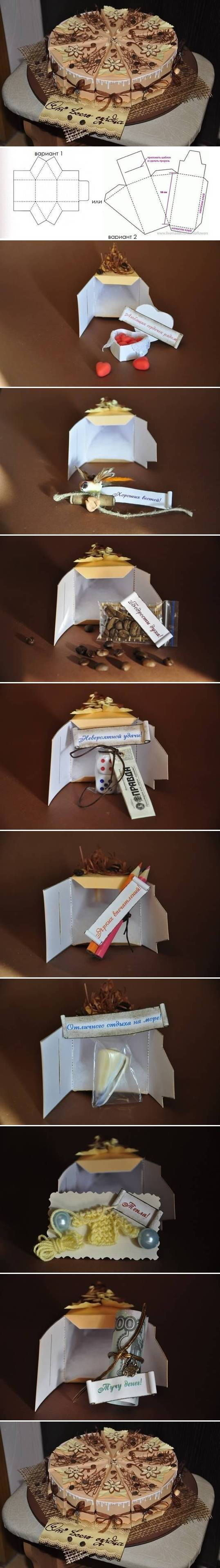 DIY Cake Gift Box Template Pictures, Photos, and Images for Facebook, Tumblr, Pinterest, and Twitter