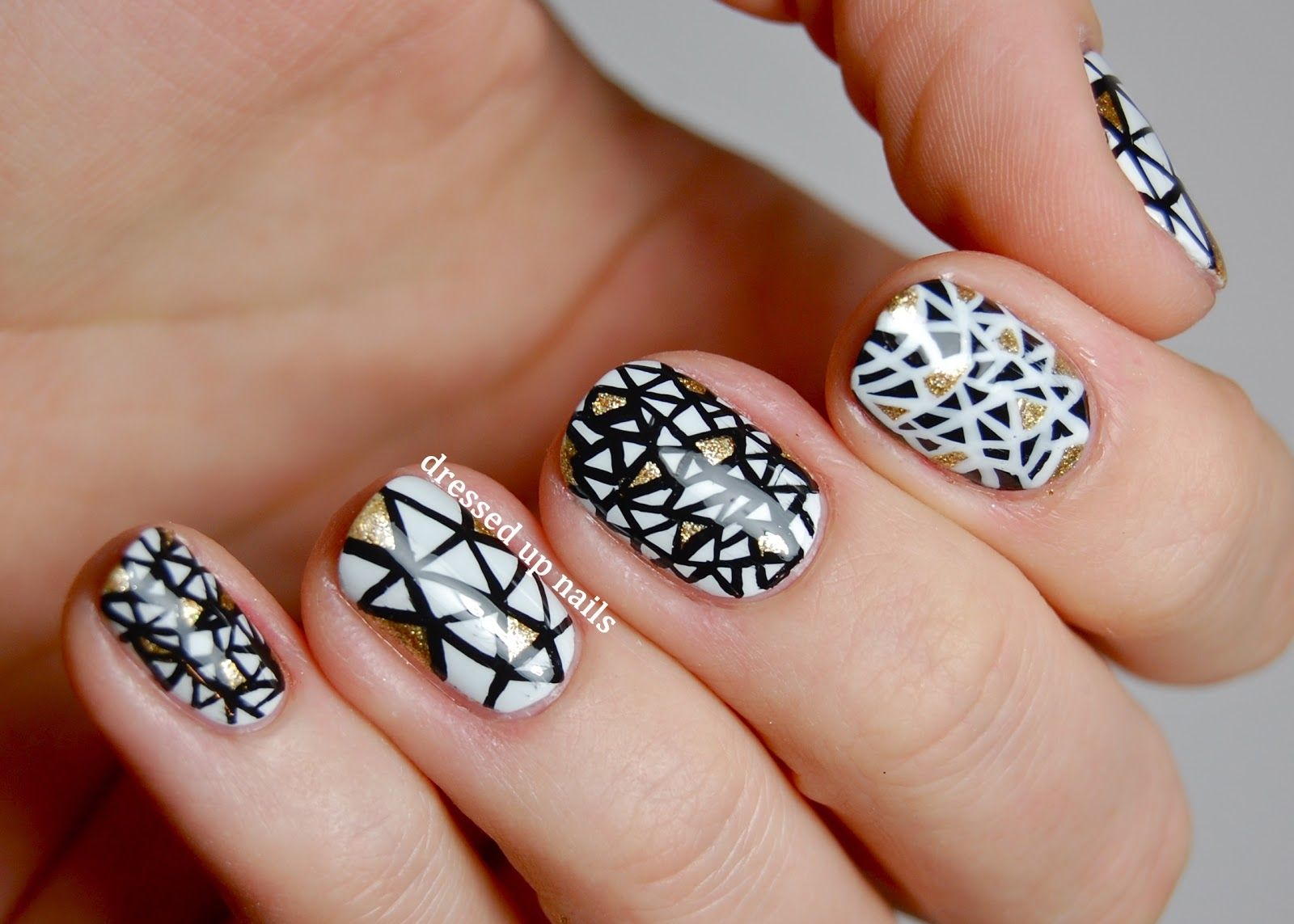 Black And White Triangle Nail Art Pictures, Photos, and Images for ...