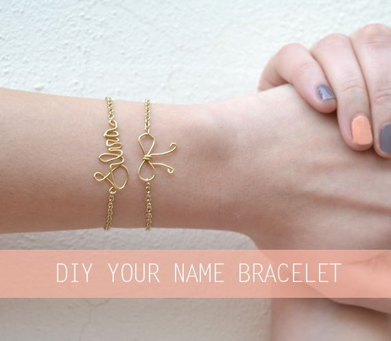 how to make wire name bracelets
