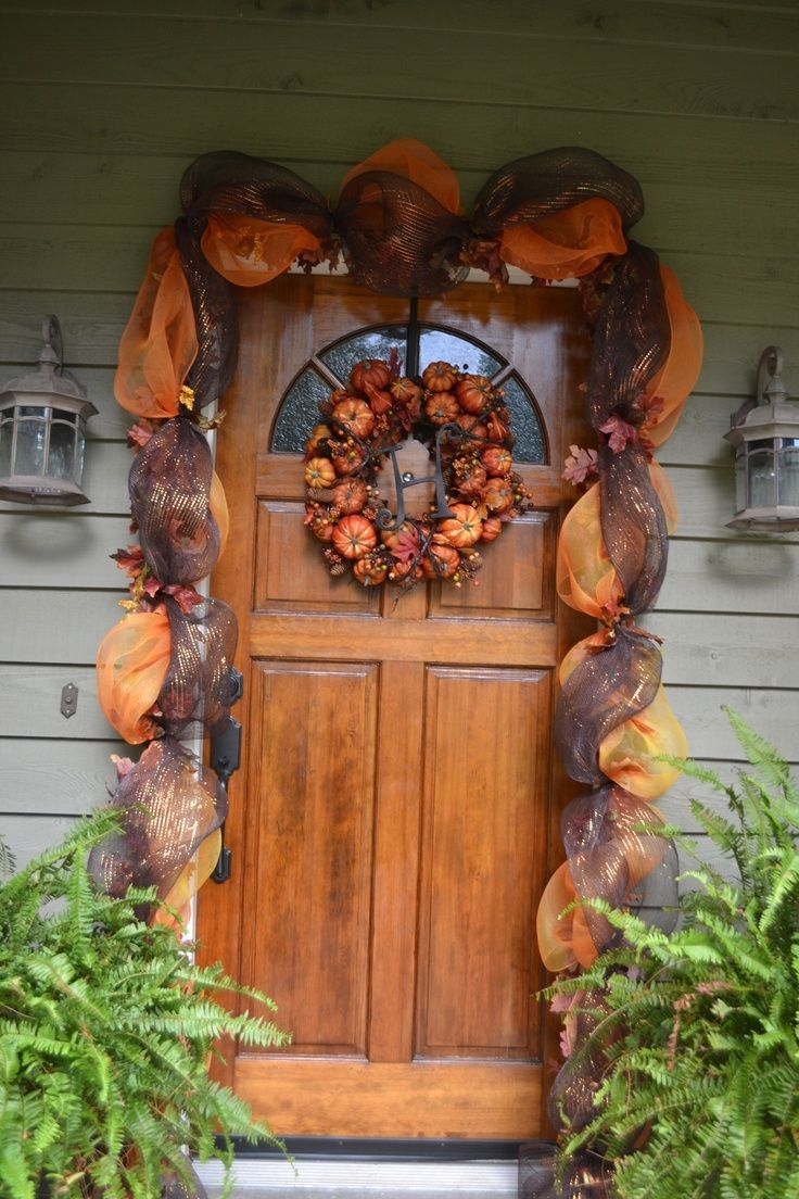 Front door decorated for fall pictures photos and images for facebook tumblr pinterest and - Front door thanksgiving decorating ideas ...