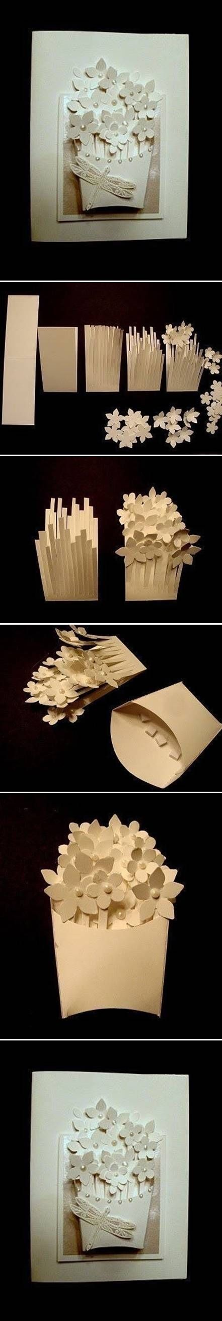How To Make A Basket With Flowers : How to make a flower basket card pictures photos and