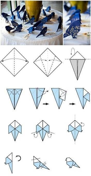 How To Make Origami Birds Pictures Photos And Images For Facebook