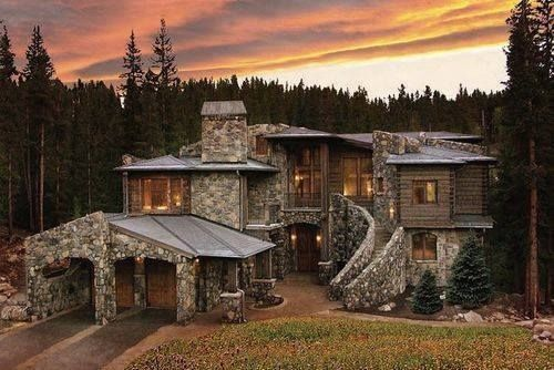 Mountain house breckenridge colorado pictures photos and images for facebook tumblr - Stone house plans rigor and elegance ...