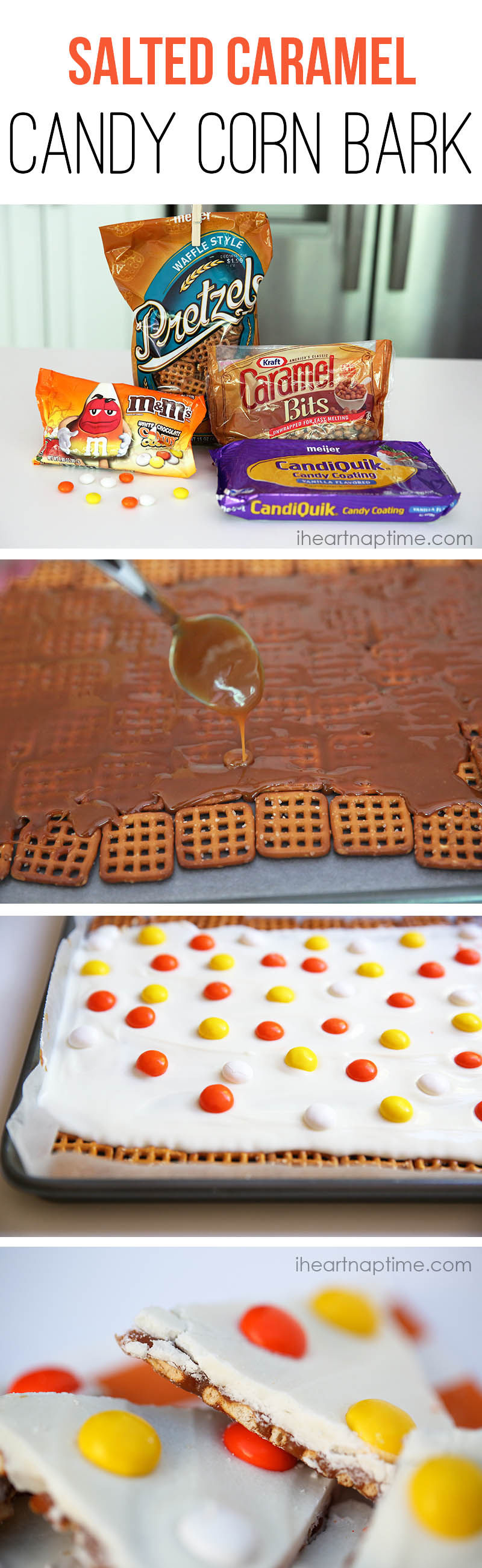 Salted Caramel Candy Corn Bark Pictures, Photos, and Images for ...