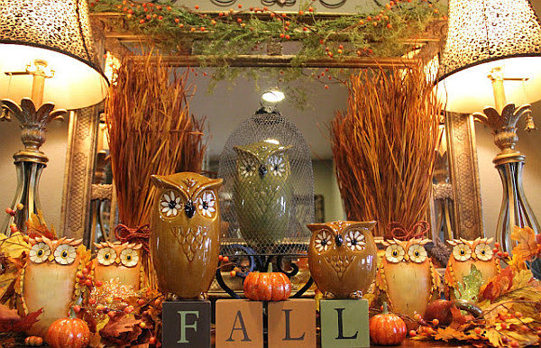 Fall owl decorations pictures photos and images for for Autumn decorations for the home