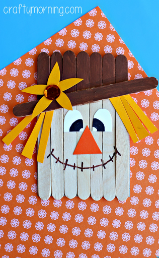 Popsicle Stick Scarecrow Craft For Kids Pictures Photos