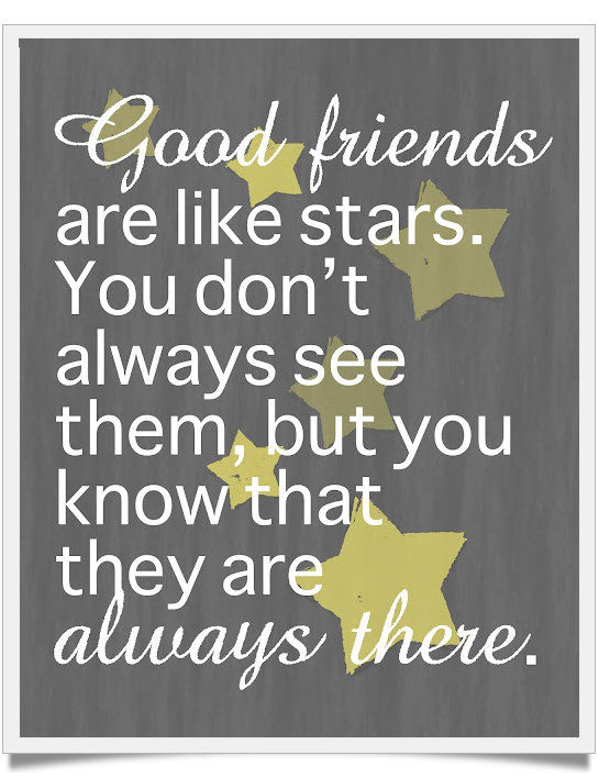 Friend Quotes With Stars : Good friends are like stars pictures photos and images