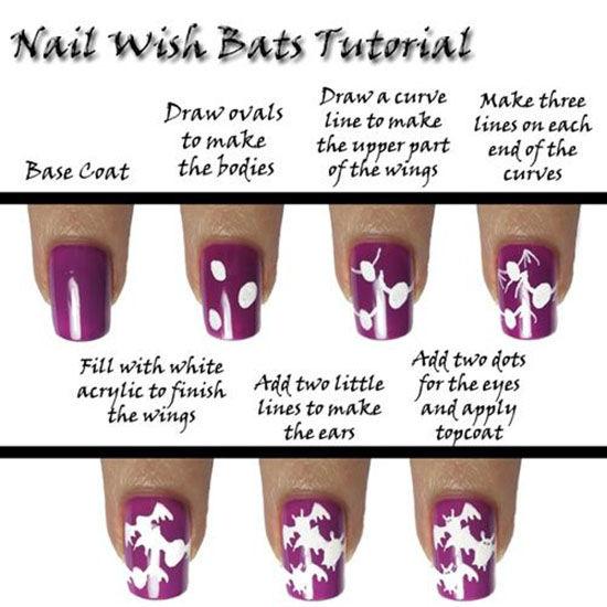 Diy Bat Nails