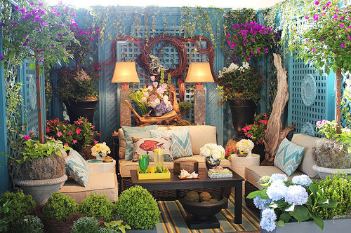 Colorful Outdoor Deck Decorating Ideas: Colorful & Cozy Outdoor Room Pictures, Photos, And Images