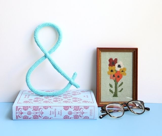 Ampersand Wall Decor knit ampersand wall decoration pictures, photos, and images for