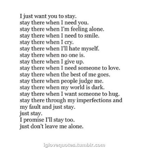 just i want you