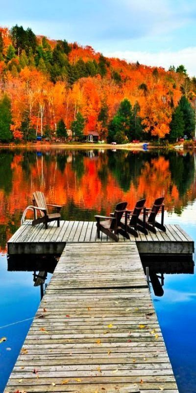 Autumn At The Boat Dock Pictures Photos And Images For
