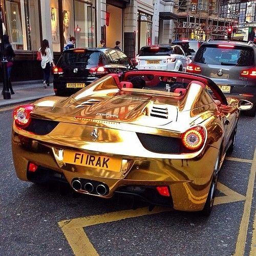 Usain Bolt Gold GT-R Ferrari Pictures, Photos, and Images for ...