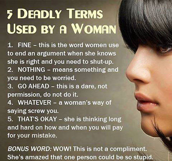 Viral News Webster Terms: 5 Deadly Terms Used By Women Pictures, Photos, And Images