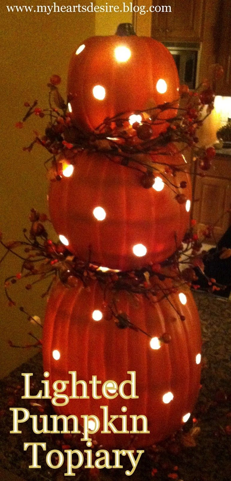 Diy Lighted Pumpkin Topiary Pictures Photos And Images