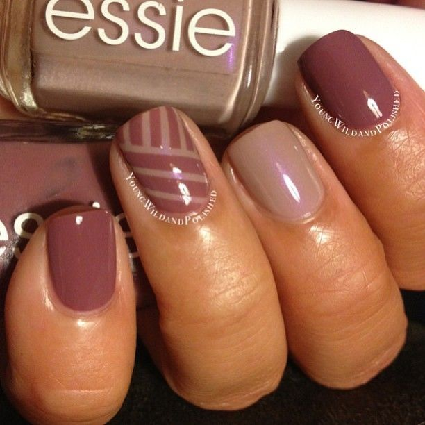 Cute Easy Fall Nail Designs: Fall Striping Tape Manicure Pictures, Photos, And Images