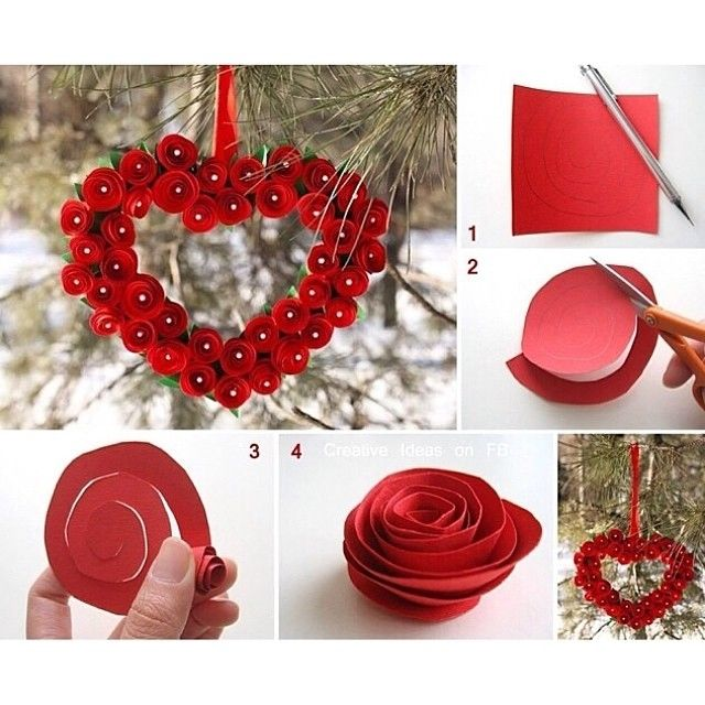 Diy Paper Hearts Craft Pictures Photos And Images For Facebook