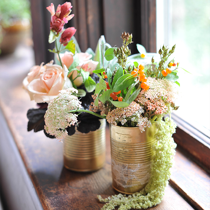 Diy Gold Soup Can Flower Vase Pictures Photos And Images For